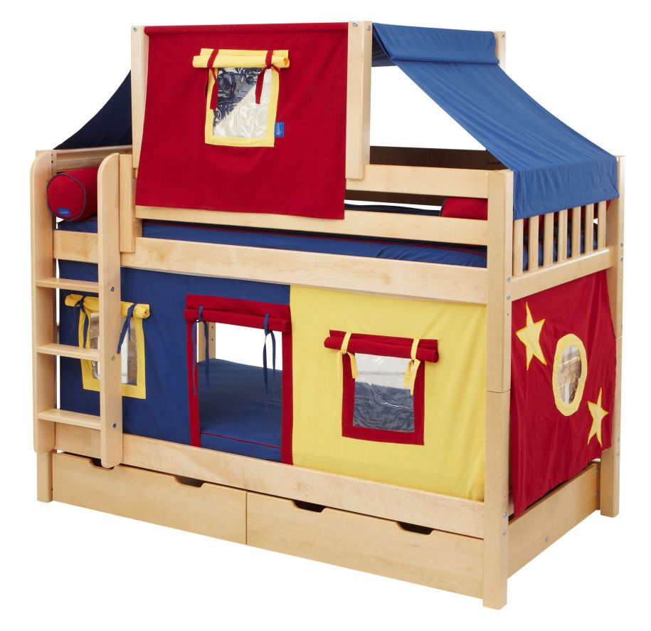 Kids furniture ideas toddler bunk beds fun fort bunk for Youth furniture