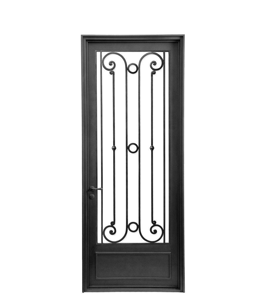 Puerta de entrada de hierro forjado artesanal dise os for Puertas de entrada de hierro