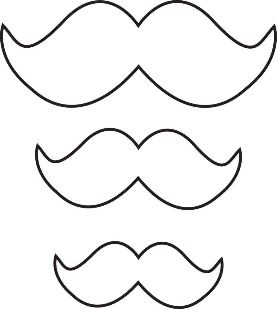 Molde de bigode em 3 tamanhos. | Decoração dia dos pais, Decoração festa  dia dos pais, Desenho de bigode
