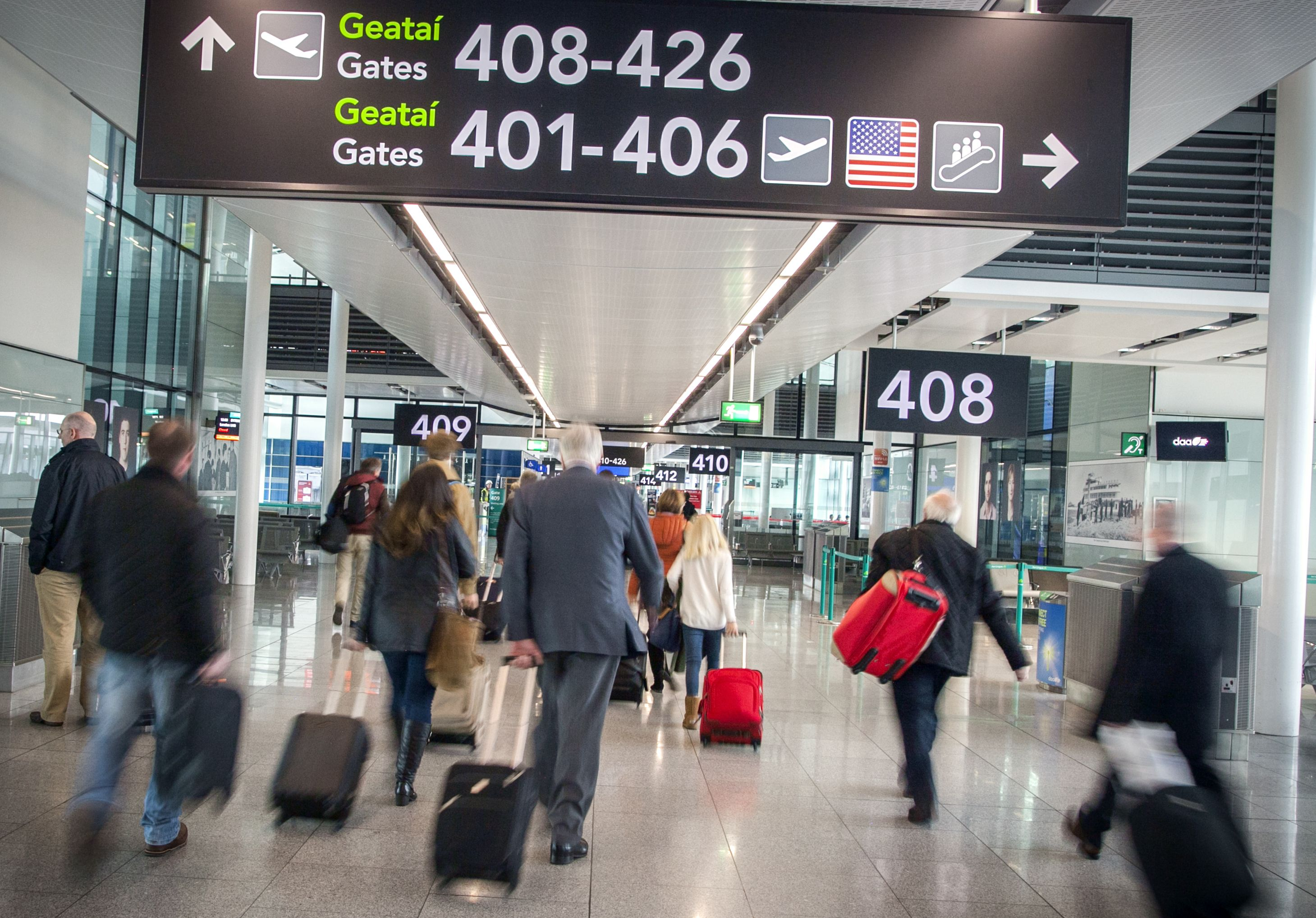 Terminal 2 arrivals at Dublin Airport