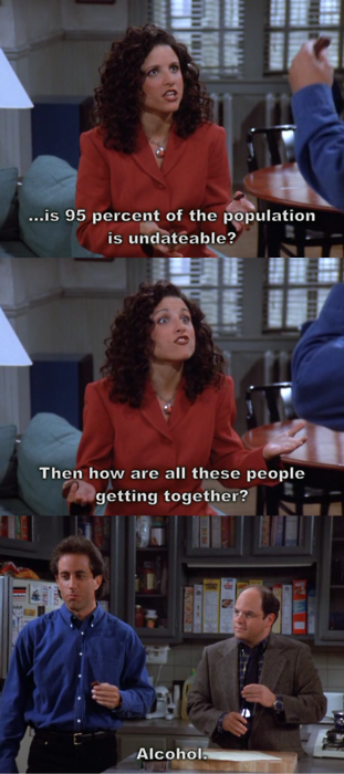 Seinfeld quote Elaine asks Jerry about dating, 'The Wink