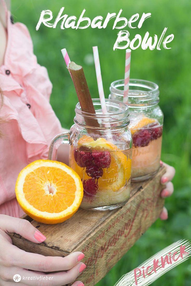 Rhabarber Prosecco Bowle | Sommergetränke, Bowle und Getränke
