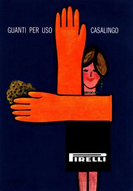 comprare in vendita fashion design il migliore Guanti Pirelli | Ilustraciones | Manifesto pubblicitario ...