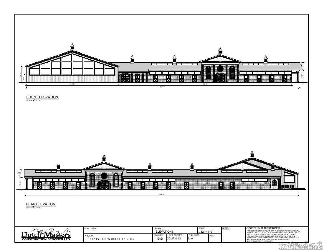 Horse stables and arena construction barn builder ontario for Plans for horse stables