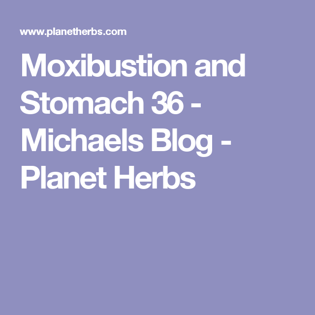 Moxibustion and Stomach 36 - Michaels Blog - Planet Herbs