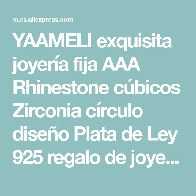 7f67aca5d7e1 YAAMELI exquisita joyería fija AAA Rhinestone cúbicos Zirconia círculo  diseño Plata de Ley 925 regalo de