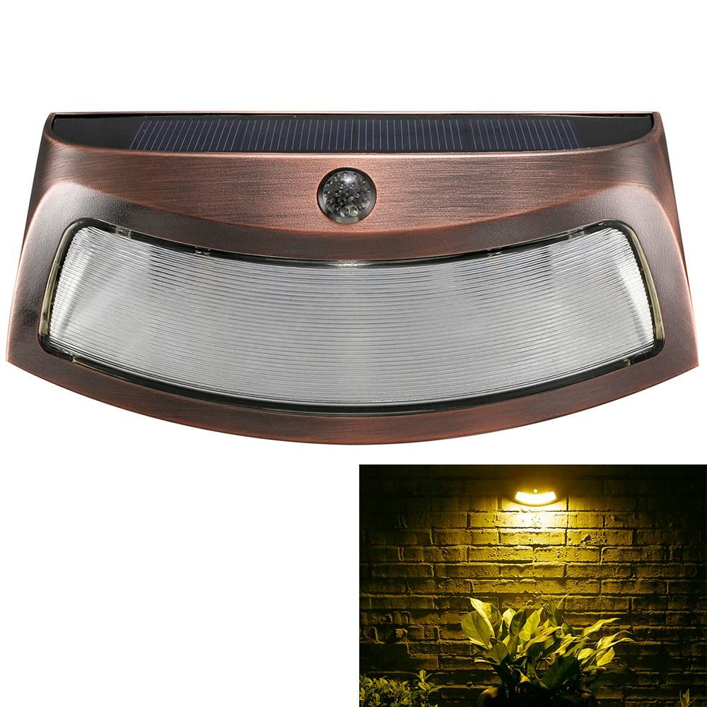 Solar power pir motion detection waterproof outdoor led wall light