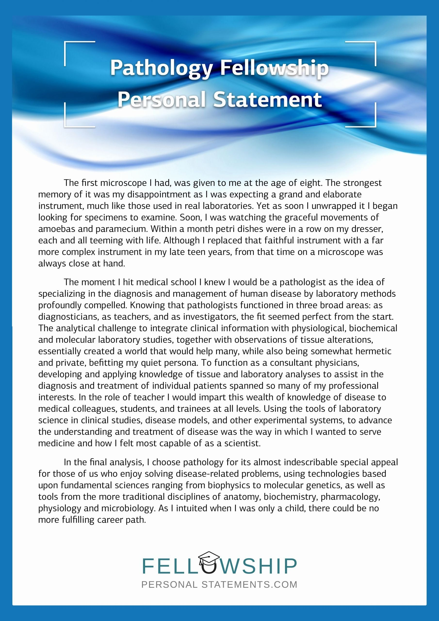 Personal Statement For Fellowship Sample Awesome Best Mission Person Cardiac Physiology