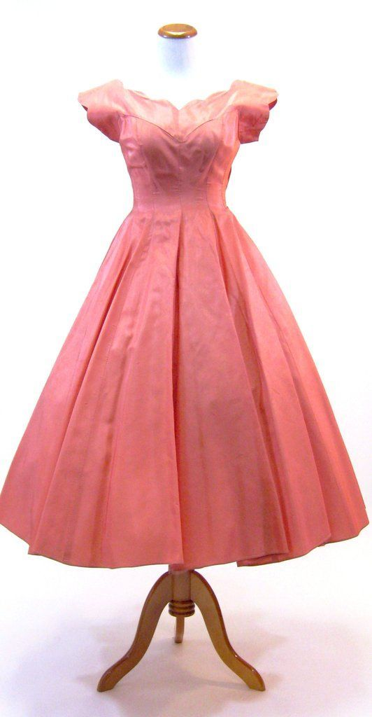 1950\'s Pink Party Dress | Pink party dresses, Pink parties and ...