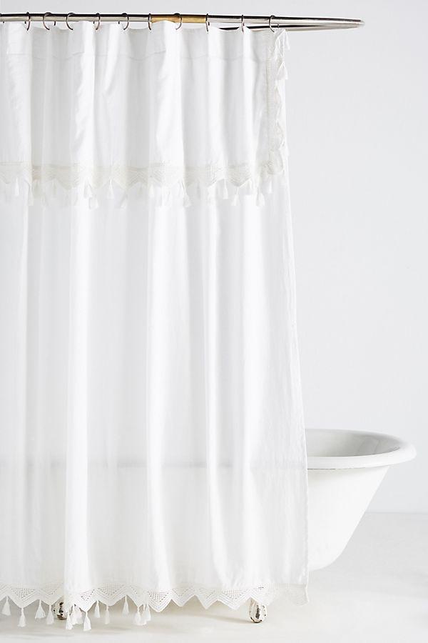 Tasseled Antioch Shower Curtain In 2020 Boho Shower Curtain Boho Shower Yellow Shower Curtains