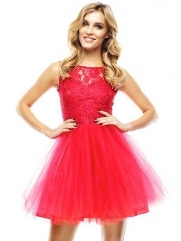 eaa84bb6ba Sukienka Virginia w kolorze czerwonym