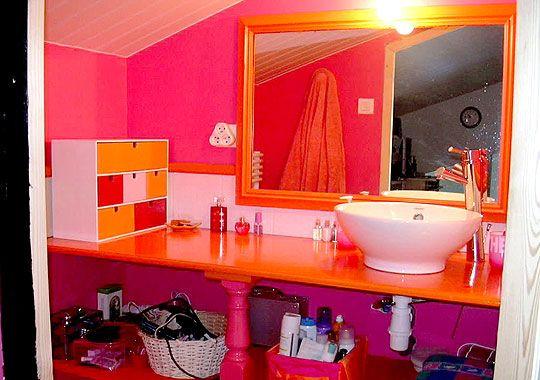 fushia orange mauve | Room ideas | Sdb, Frederique, Decoration