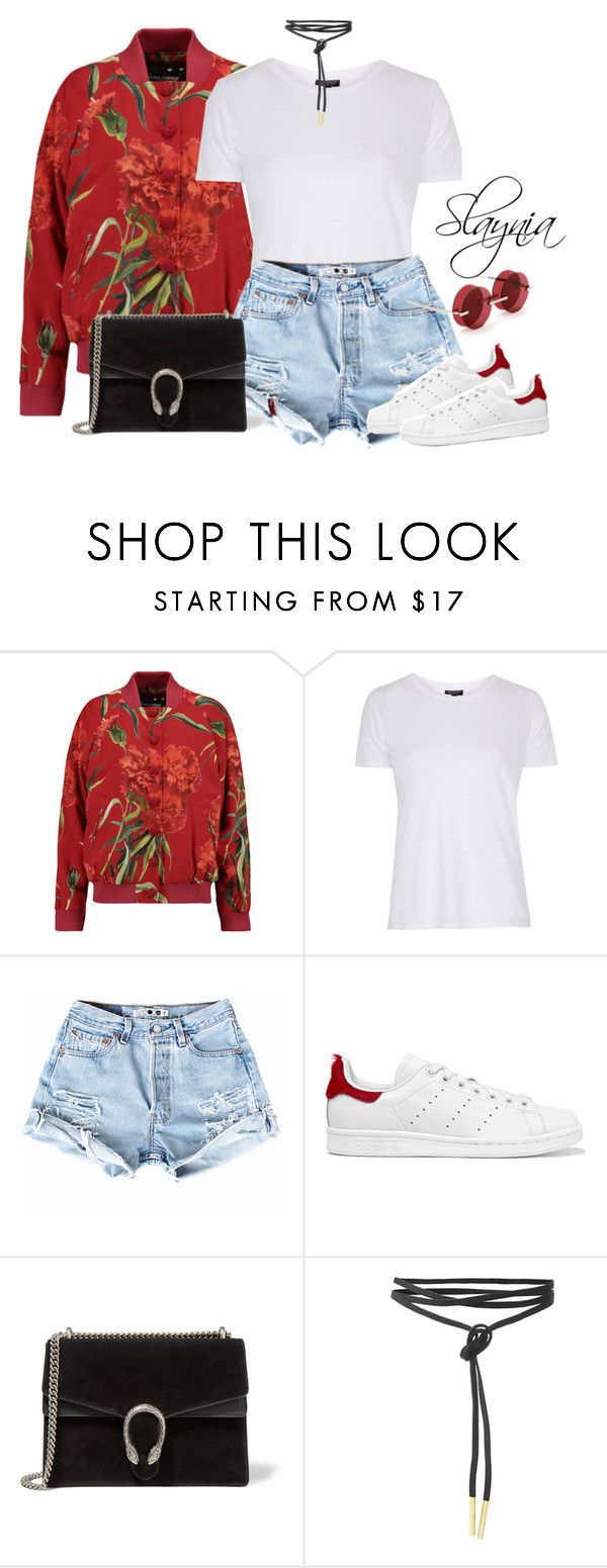 """""""Introvert Loves Fashion"""" by slaynia ❤ liked on Polyvore featuring Dolce&Gabbana, Topshop, adidas Originals, Gucci and Percy Lau"""