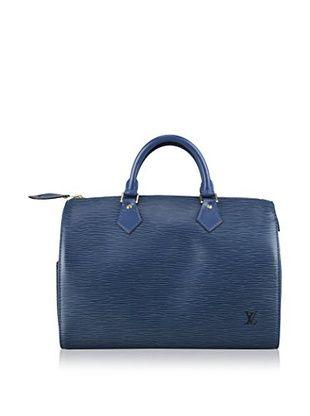Portero Louis Vuitton Women's Speedy Top Handle Bag, Blue