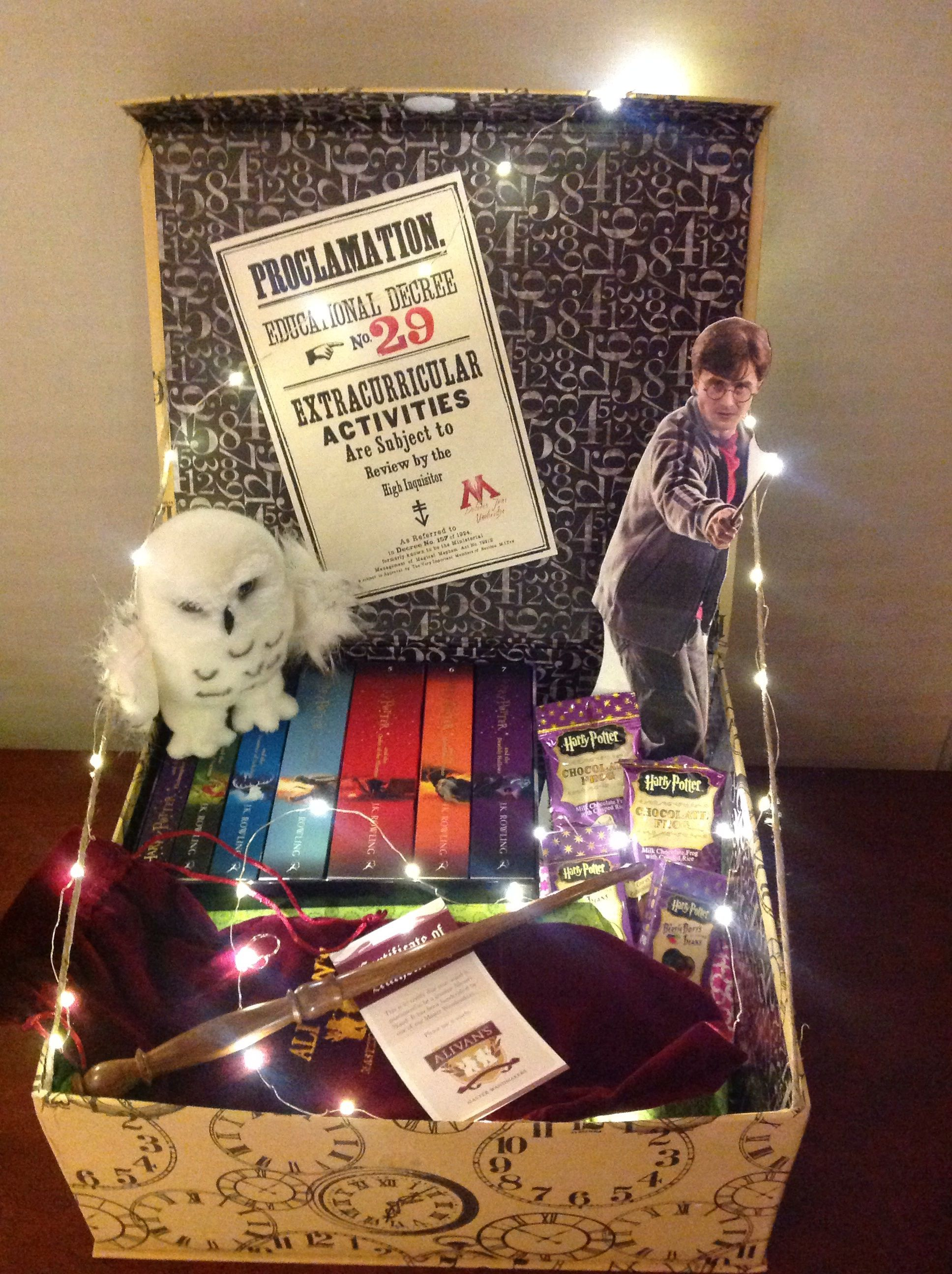Harry Potter silent auction basket | PTA | Pinterest | Auction ...