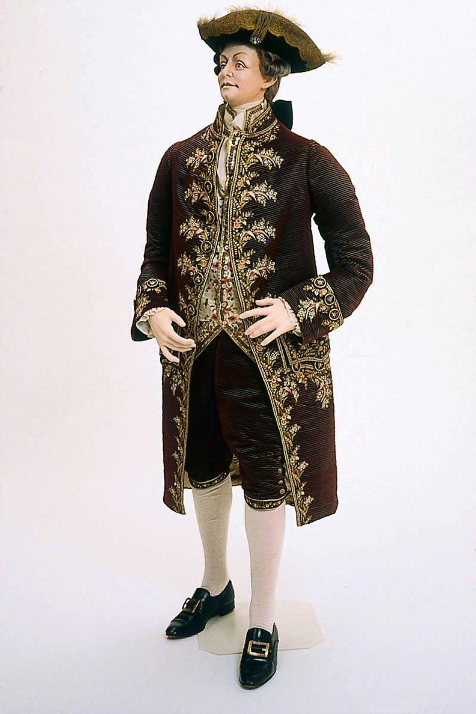 Man's suit in two parts (coat) French, 1770 | 1700's Men's ...