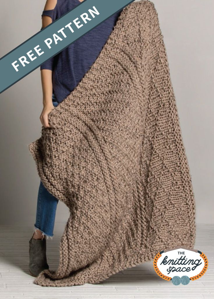 Photo of Glorious Gansey Knitted Throw [FREE Knitting Pattern]
