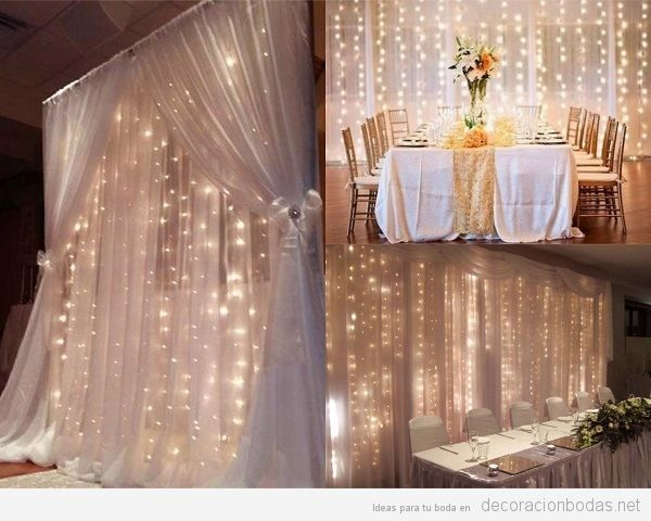 cortinas luces led boda | boda muñi en 2019 | pinterest