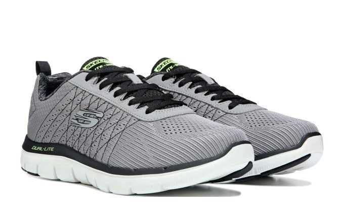 f2f82e39f6af Skechers Flex Advantage 2.0 Haps Memory Foam Gray Black Sneakers Size 13 W  NWB  Skechers  Athletic