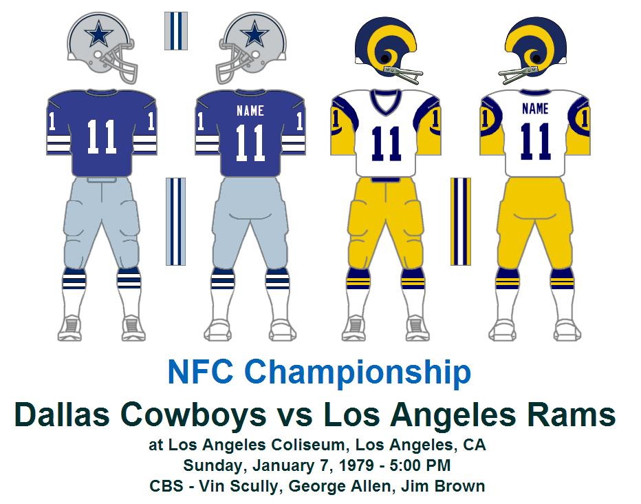 1979 dallas cowboys game v. la rams nfc divisional playoff   The Gridiron Uniform Database: 2012-10-21