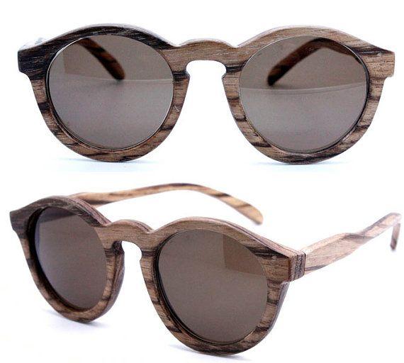 261b97e7d handmade vintage look zebra wood sunglasses by takemoto Óculos De Sol De  Madeira, Óculos,