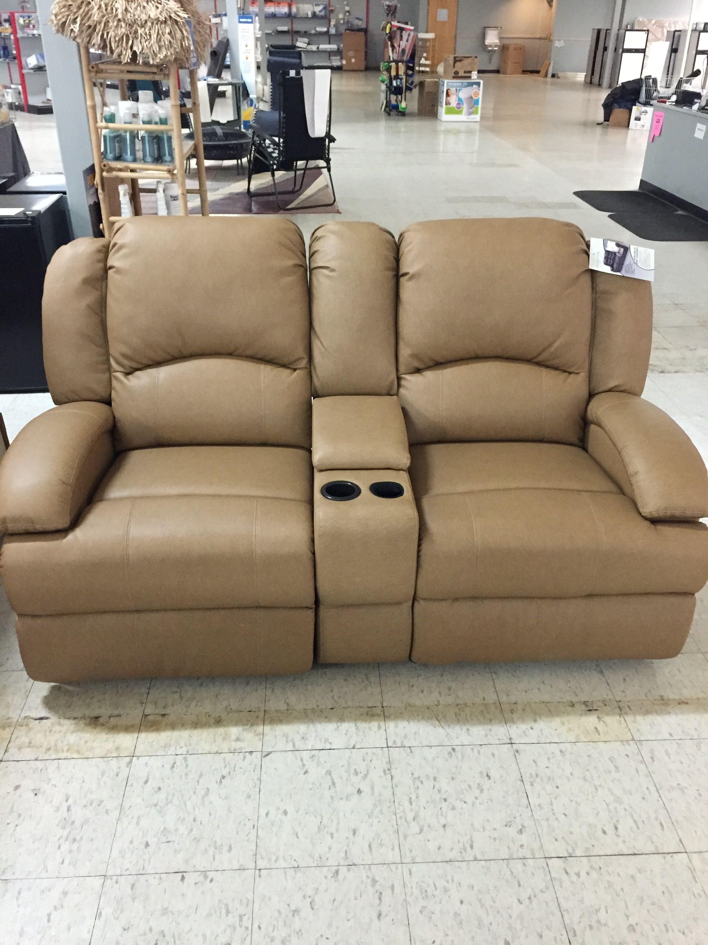 double recliner chairs with cup holders leather of bath lansdown dual storage counsel and