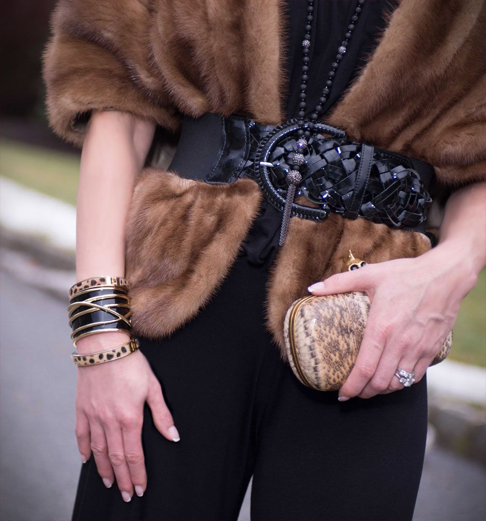Fashion style How to vintage wear fur stole for lady