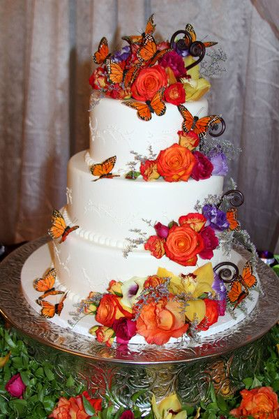 Lauren & Shane's Fall Reception Wedding Cakes Photos on ...