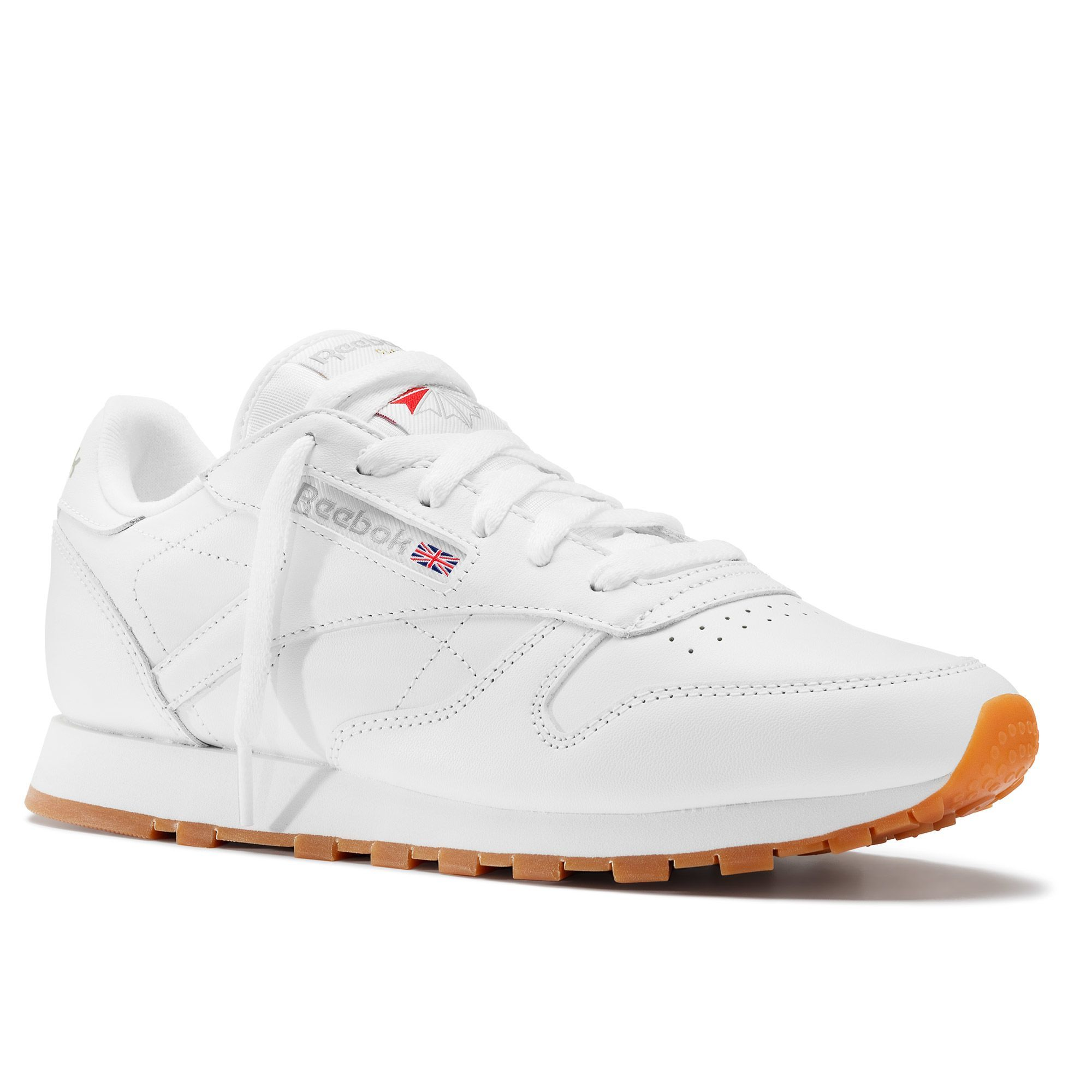 Details about Reebok CL LTHR Classic Leather White Gum Women Casual Shoes Sneakers 49803