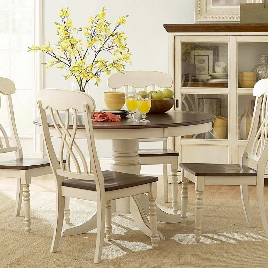 Round kitchen table sets white