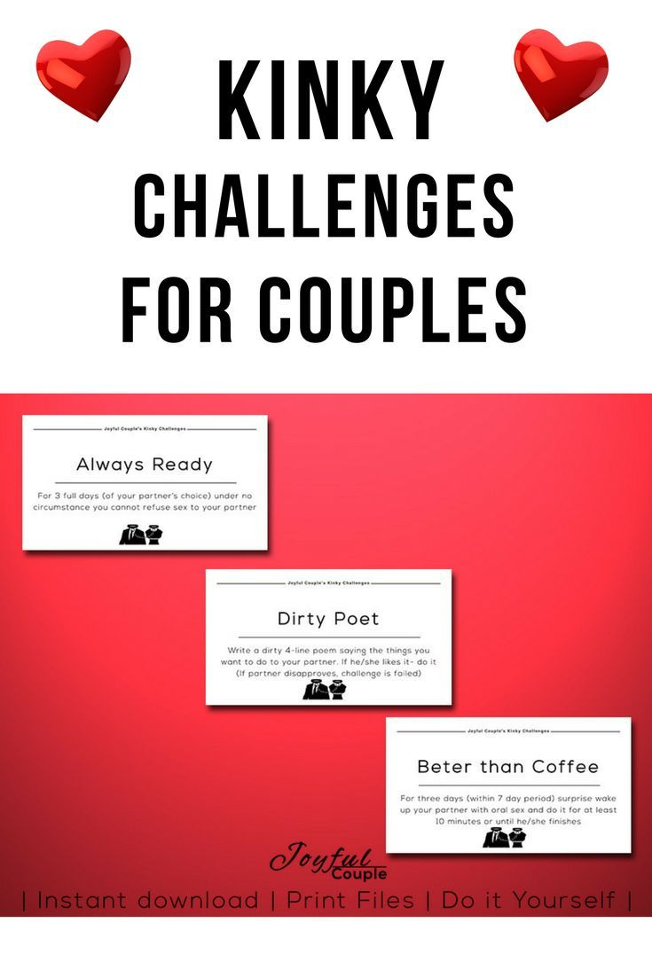 Kinky Printable Challenges Gift For Boyfriend Mothers