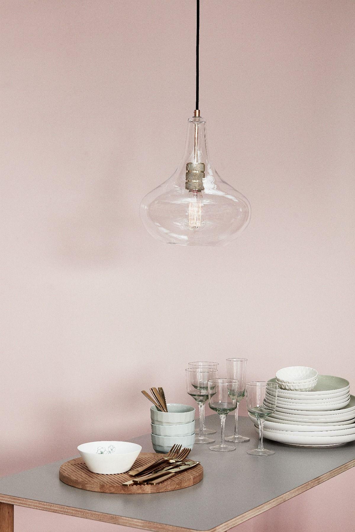 HÜBSCH Deckenlampe Glas Messing Lampen, Deckenlampe und