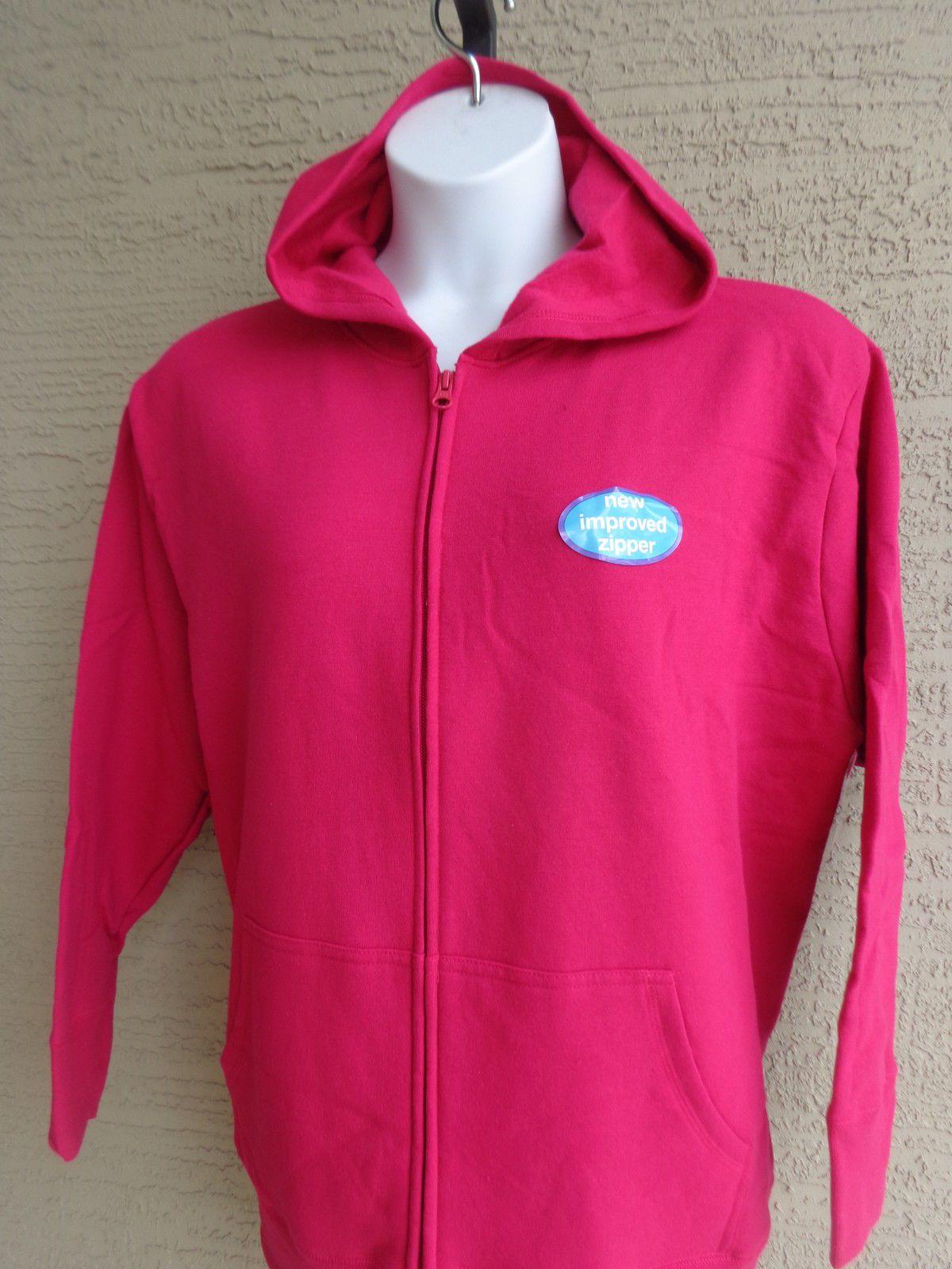 78c7ec028c5 Just My Size Eco Smart Sweats Zip Front Hooded Sweatshirt 2X Raspberry