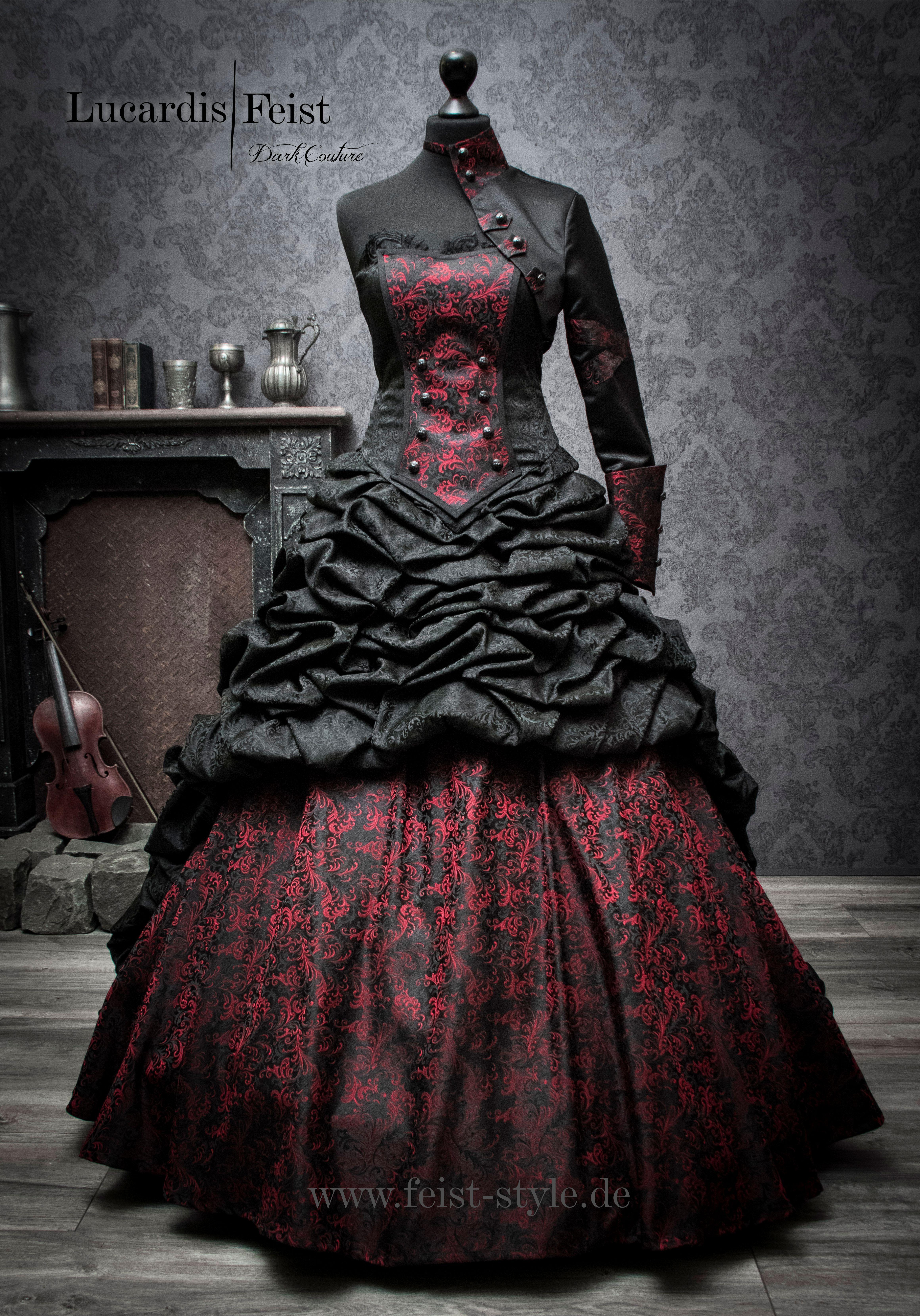 schwarzes brautkleid / lucardis feist #victorian