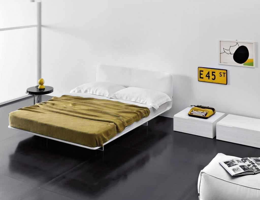 The Bed Appears To Be Suspended In Mid Air The Headboard Can Have The Same Width As The Bed Frame And The Mattress O Stylish Beds Contemporary Bed Furniture
