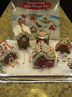 Gingerbread Village Kit From Target Christmas Gingerbread