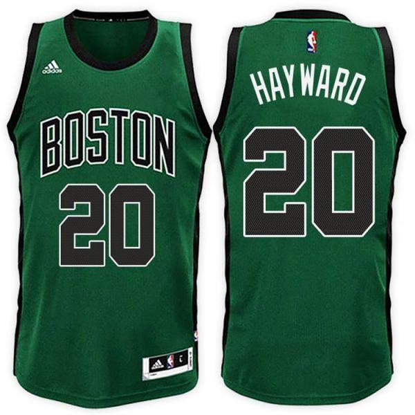 acd1324a0 GORDON HAYWARD BOSTON CELTICS  20 ROAD GREEN BLACK NEW SWINGMAN JERSEY