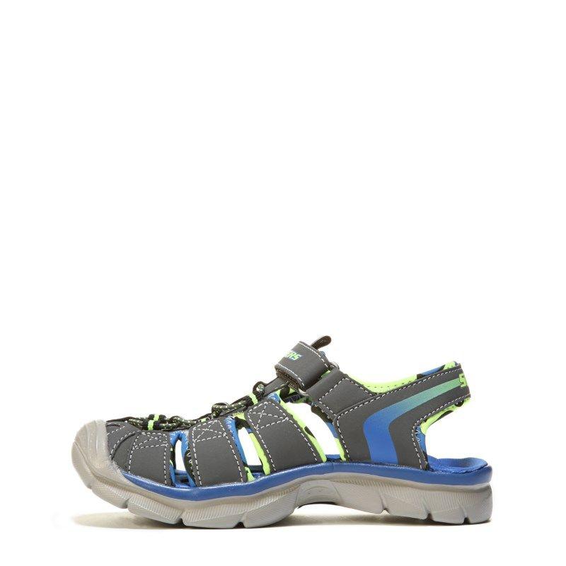 Skechers Kids' Relix Sport Sandal Pre/Grade School Sandals (Charcoal/Blue)