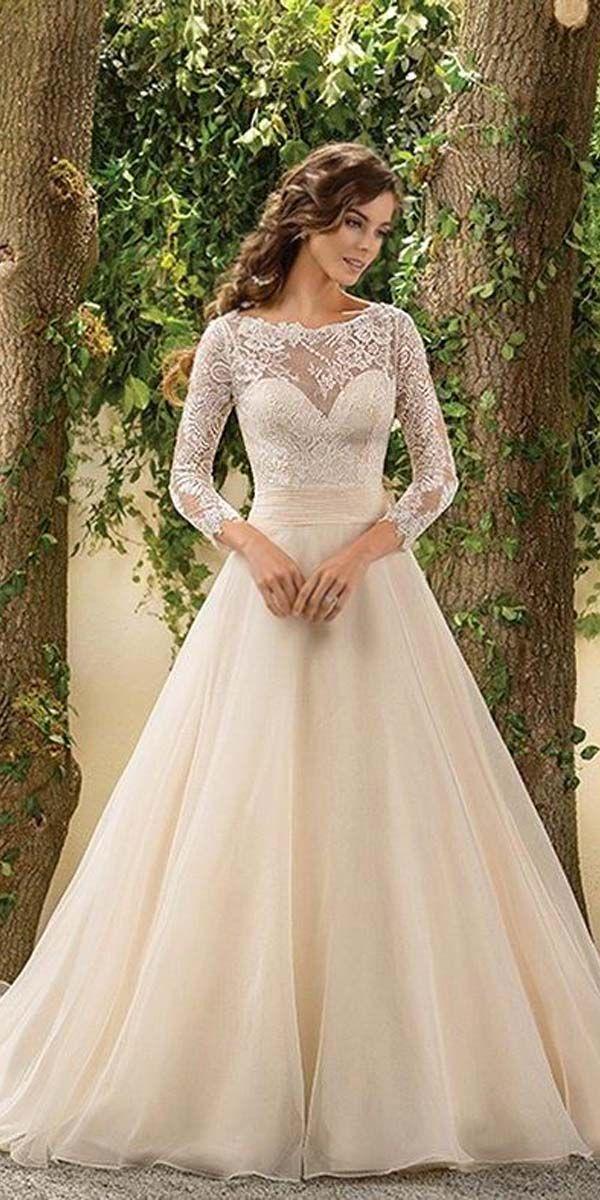 24 Chic Long Sleeved Wedding Dresses Long sleeved wedding