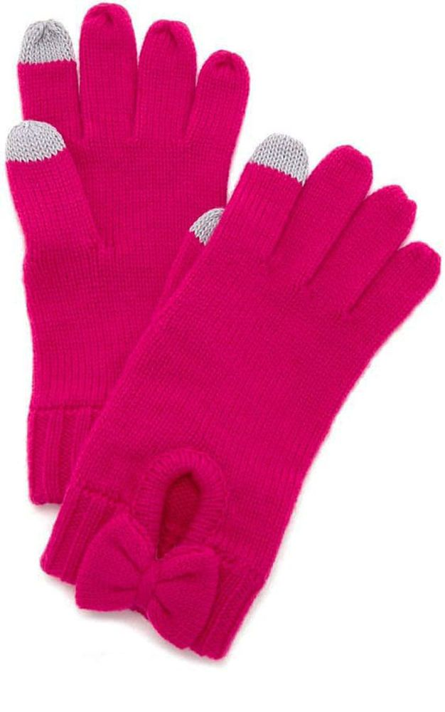 a2312cae91a9d Kate Spade New York Gathered Bow Glove Pink Tech Friendly O S NWT Pink