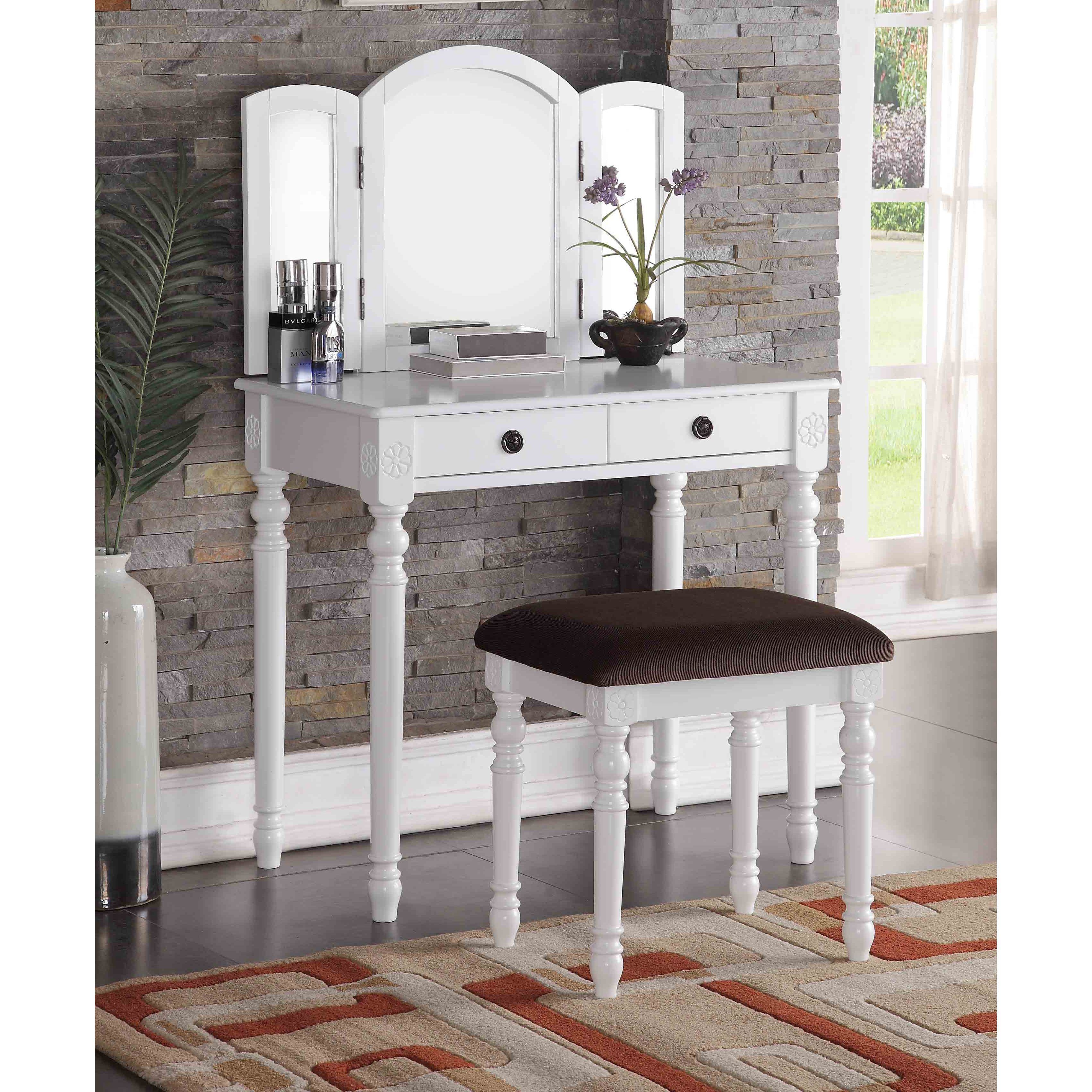 bedroom review makeup for of vanity design sets best ideas desk white womens modern picture
