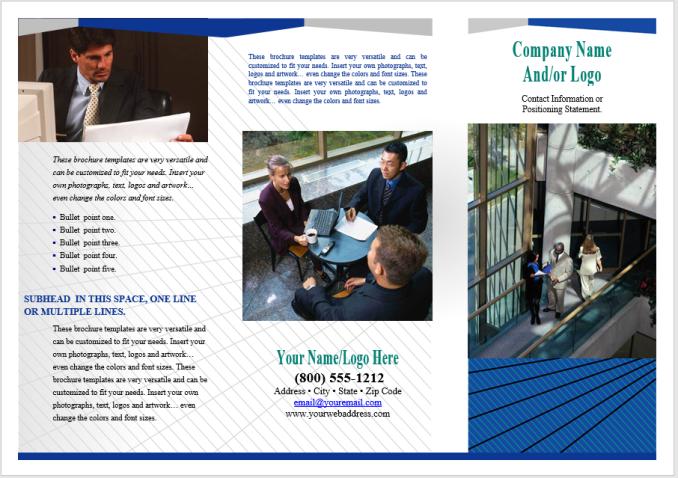 Sample Marketing Brochure | Marketing Tri Fold Brochure Template Stationary Templates