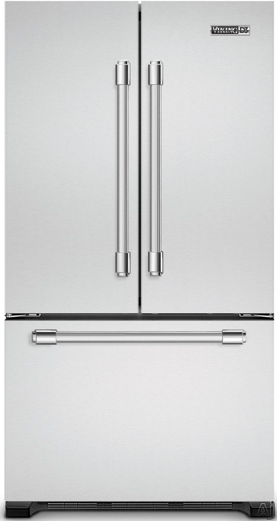 Viking RDDFF236SS 21.8 Cu. Ft. Counter Depth French Door Refrigerator With  Spill