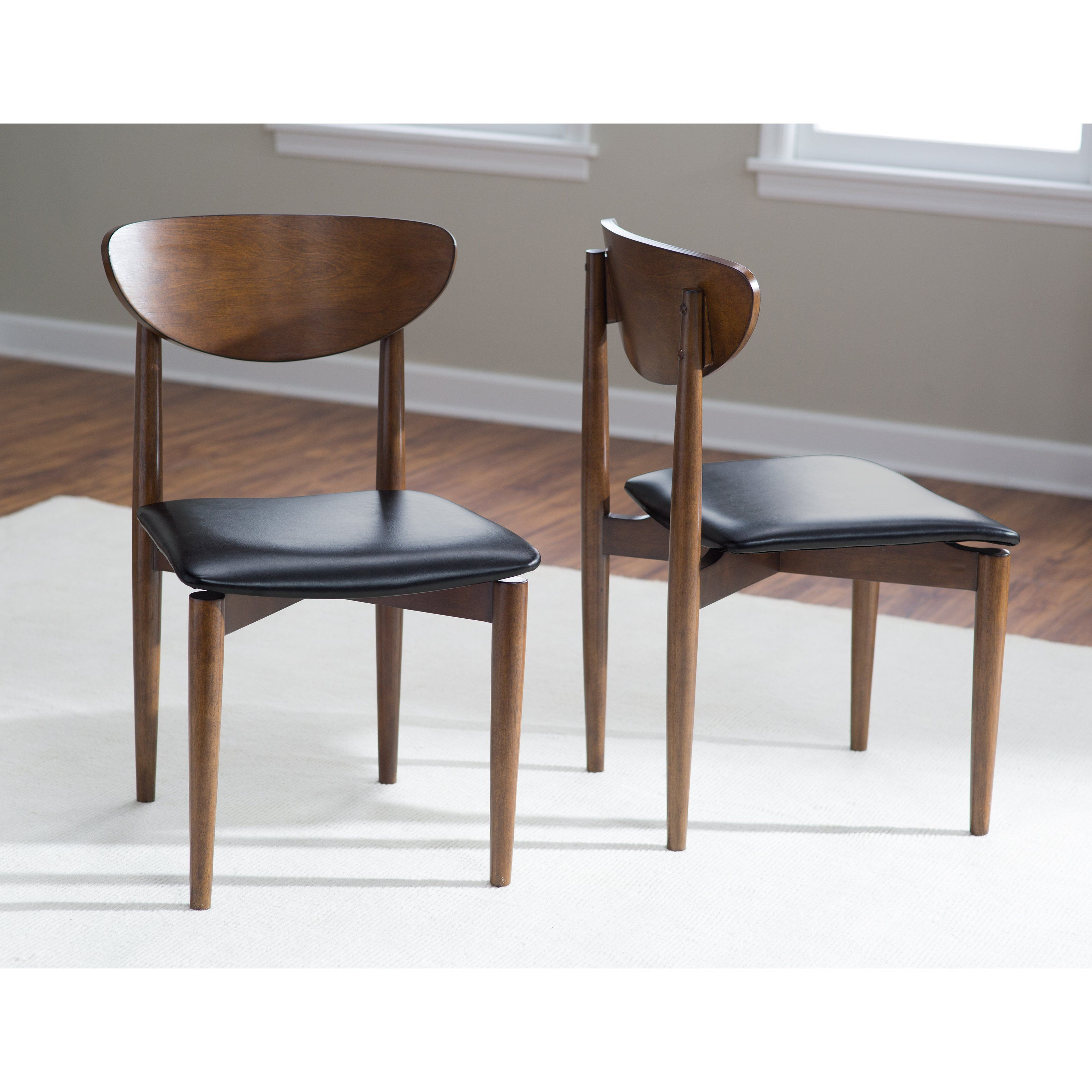 Incredible Belham Living Carter Mid Century Modern Dining Chair Set Dailytribune Chair Design For Home Dailytribuneorg