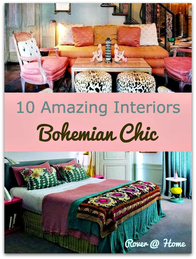 10 Amazing Bohemian Chic Interiors | Bohemian, Boho and Living rooms