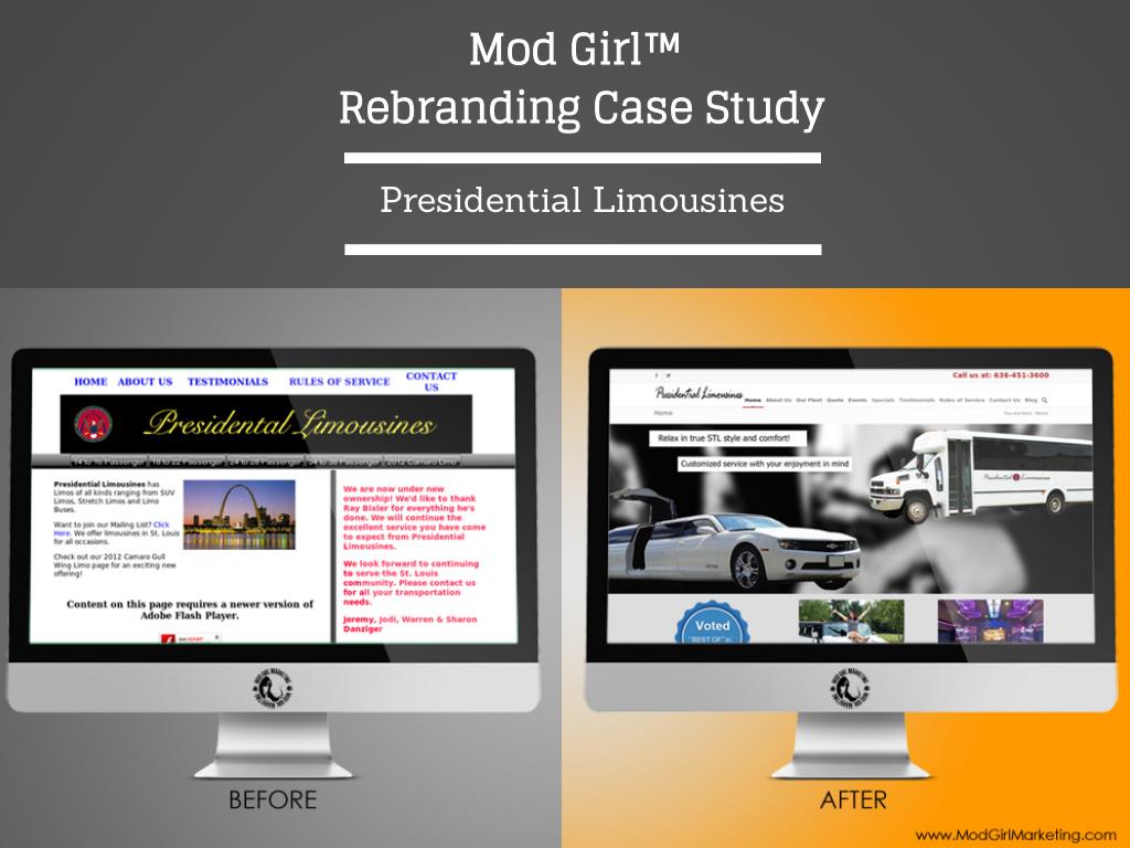 Rebranding Case Study: Presidential Limousines http://www.modgirlmarketing.com/rebranding-case-study-presidential-limousines/