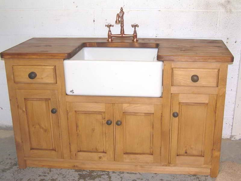 Unfinished Alder And Cast Unfinished Alder And Cast Iron Apron Front Sinks For Standing Kitchen Sink Units Free Standing Kitchen Cabinets Freestanding Kitchen