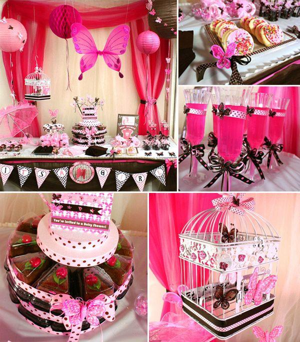 vlinders baby shower idee baby shower pinterest. Black Bedroom Furniture Sets. Home Design Ideas
