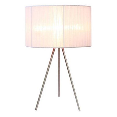 Simple Designs Brushed Nickel Tripod Table Lamp With