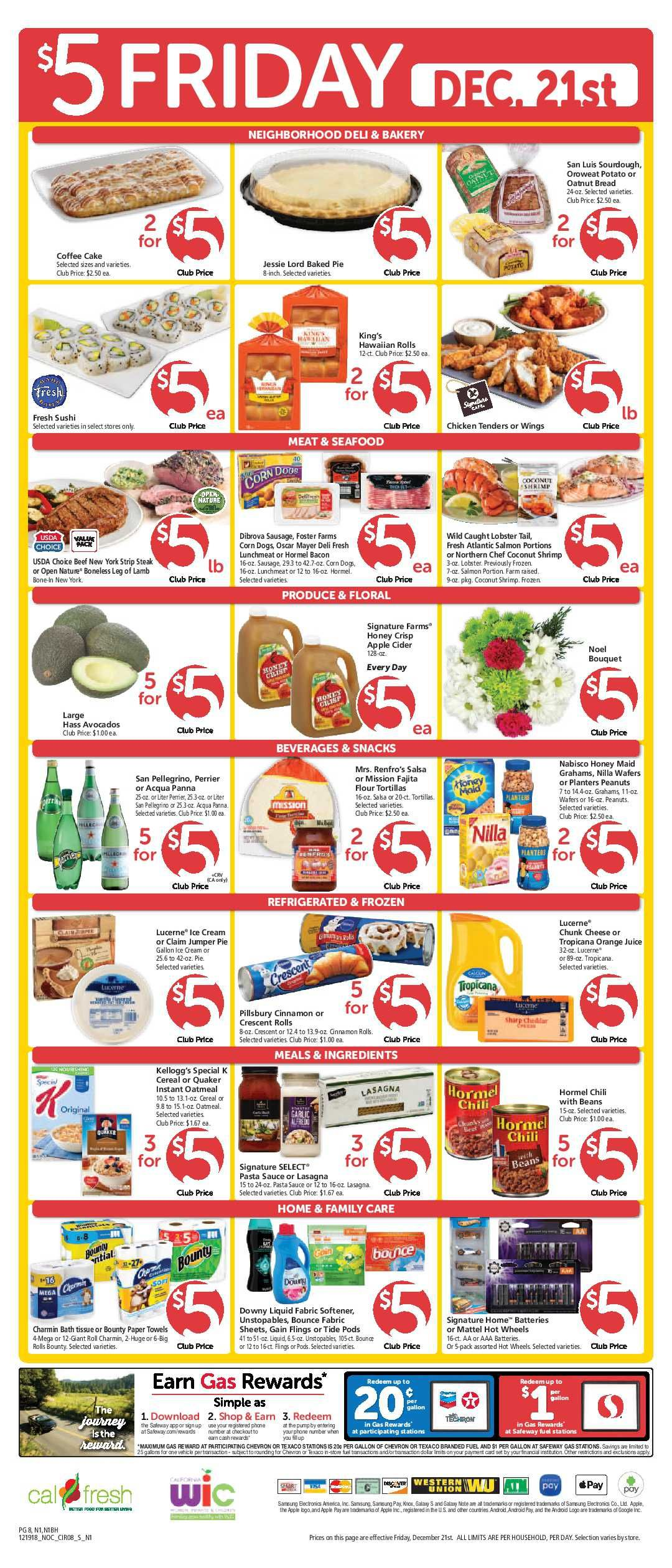 Safeway 5 Friday Ad Flyer March 13, 2020 Weekend Sale